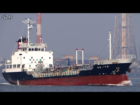 TSUKI MARU NO.11 第十一月丸 Product tanker プロダクトタンカー 鶴見サンマリン 関門海峡 2015-JUL