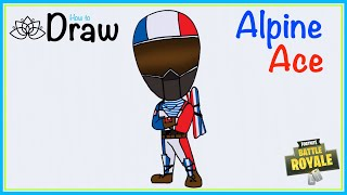 How to draw Alpine Ace Chibi style| Fortnite