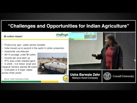 "Usha Barwale Zehr - ""Challenges and Opportunities for Indian Agriculture"""