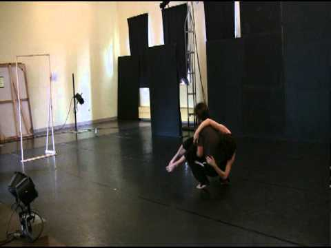 Human Landscape Dance and Susan Cook--Blind Date rehearsal
