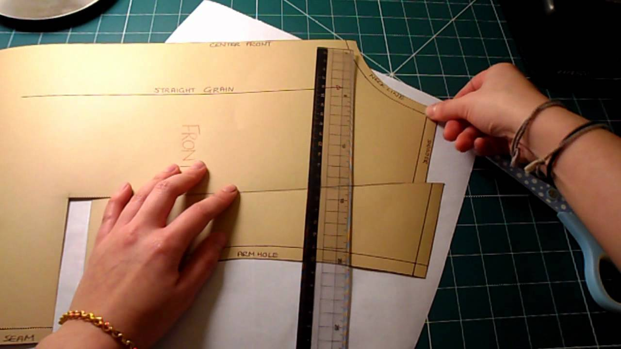 Pattern Cutting Tutorial How To Adjust The Pattern For Sloped Or