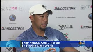 Tiger Woods Said To Be Feeling Better