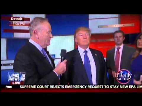 Trump Suggests Bill O