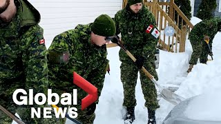 Canadian troops help NL dig out of the snow
