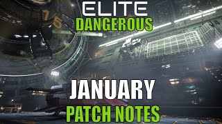 Elite Dangerous  News January Update Patch Notes 2020