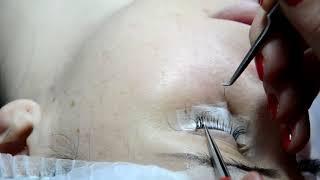 СТАРОЕ Мастер класс Наращивание ресниц 2Д ультралегкий объем в процессе Eyelash 2D ultra volume