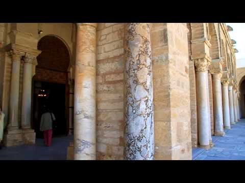 inside the Great Kairouan mosque HD