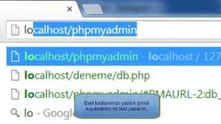 PHP Dersleri (2 -- Veritabanı Bağlantısı)