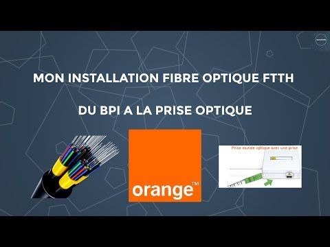 Installation fibre optique Orange (FTTH)