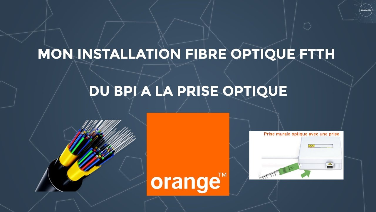 installation fibre optique orange ftth youtube. Black Bedroom Furniture Sets. Home Design Ideas
