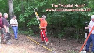 Pull Trees Down With An Arborist's Habitat Hook When Hinge Cutting Trees For Deer Habitat