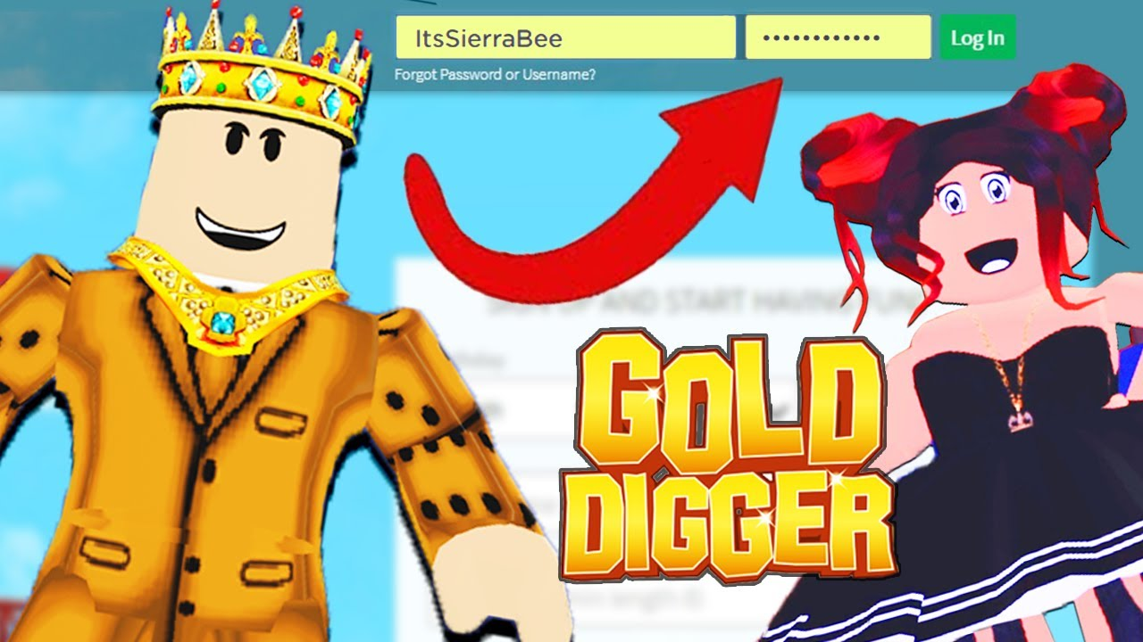 Hacking A Roblox Gold Diggers Account In Adopt Me Youtube