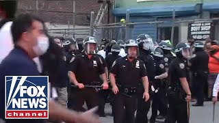 Chaos erupts during Brooklyn protests, officer injured