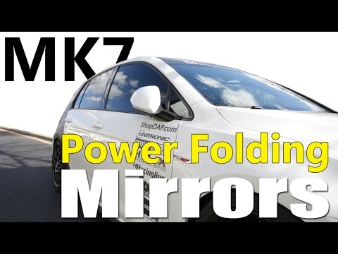 MK7 Power Folding Mirror DIY Install