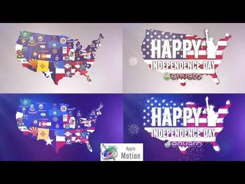 Apple Motion Template: USA States Flag Logo