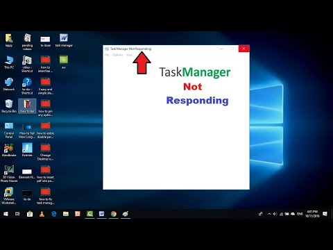 How To Fix Task Manager Isn't Responding Error In Windows 10