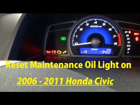 how to reset maintenance oil light on 2006 2007 2008 2009