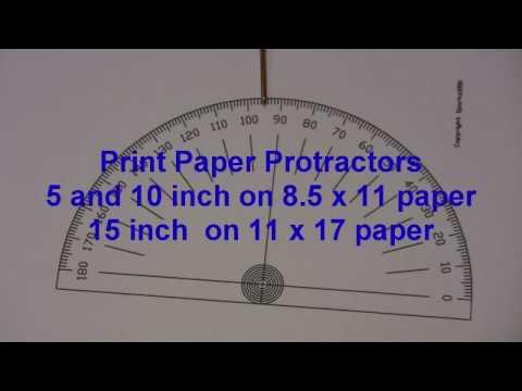 Degree Wheels Protractors