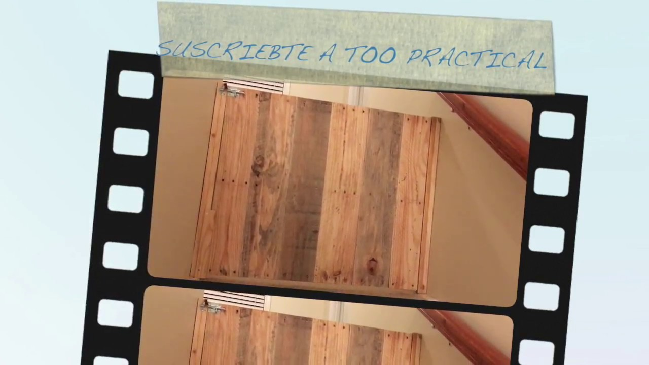 Como hacer puerta para escaleras de madera reciclada youtube for Como hacer una puerta de madera