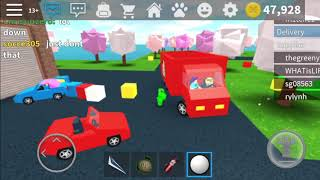 ROBLOX Work At A Pizza Place Flinging Trucks With Snowballs