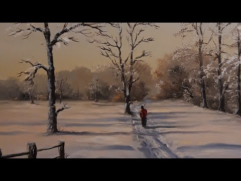 painting a snow scene part 2