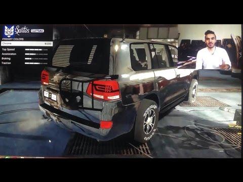 GTA 5 CAR MOD TOYOTA LAND CRUISER 2016 5