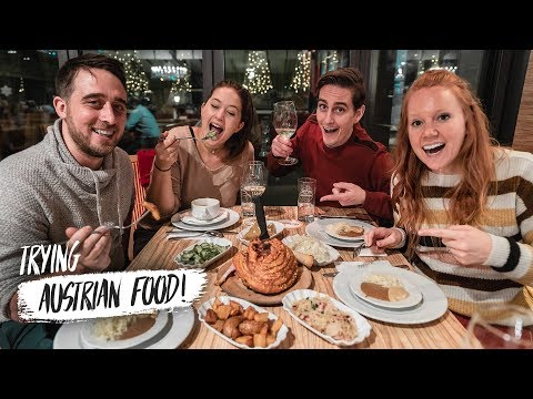 Austrian Food Is DELICIOUS! - Food Tour in VIENNA AUSTRIA w/ The Travel Beans!