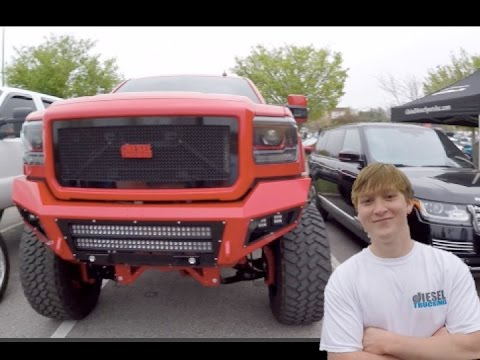 """This 18 Year Old High Schooler has a SICK 12"""" LIFTED 2500HD DURAMAX on 40""""s"""