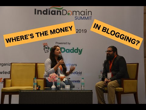 Where's The Money in Blogging? | Indian Domain Summit 2019 | Ft Jay Paudyal