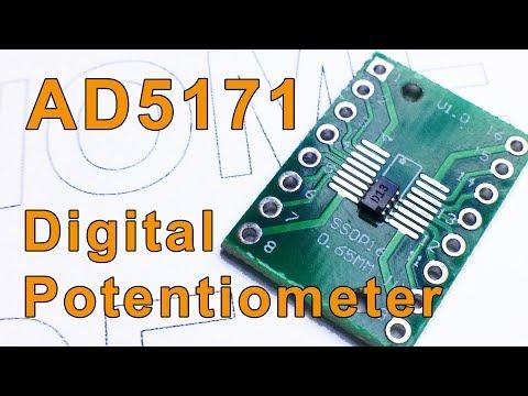Цифровой переменный резистор AD5171 и Ардуино