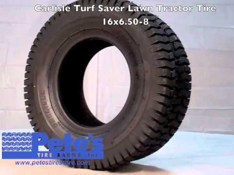 Carlisle Turf Saver Lawn Tractor Tire 16x6 50 8 Youtube