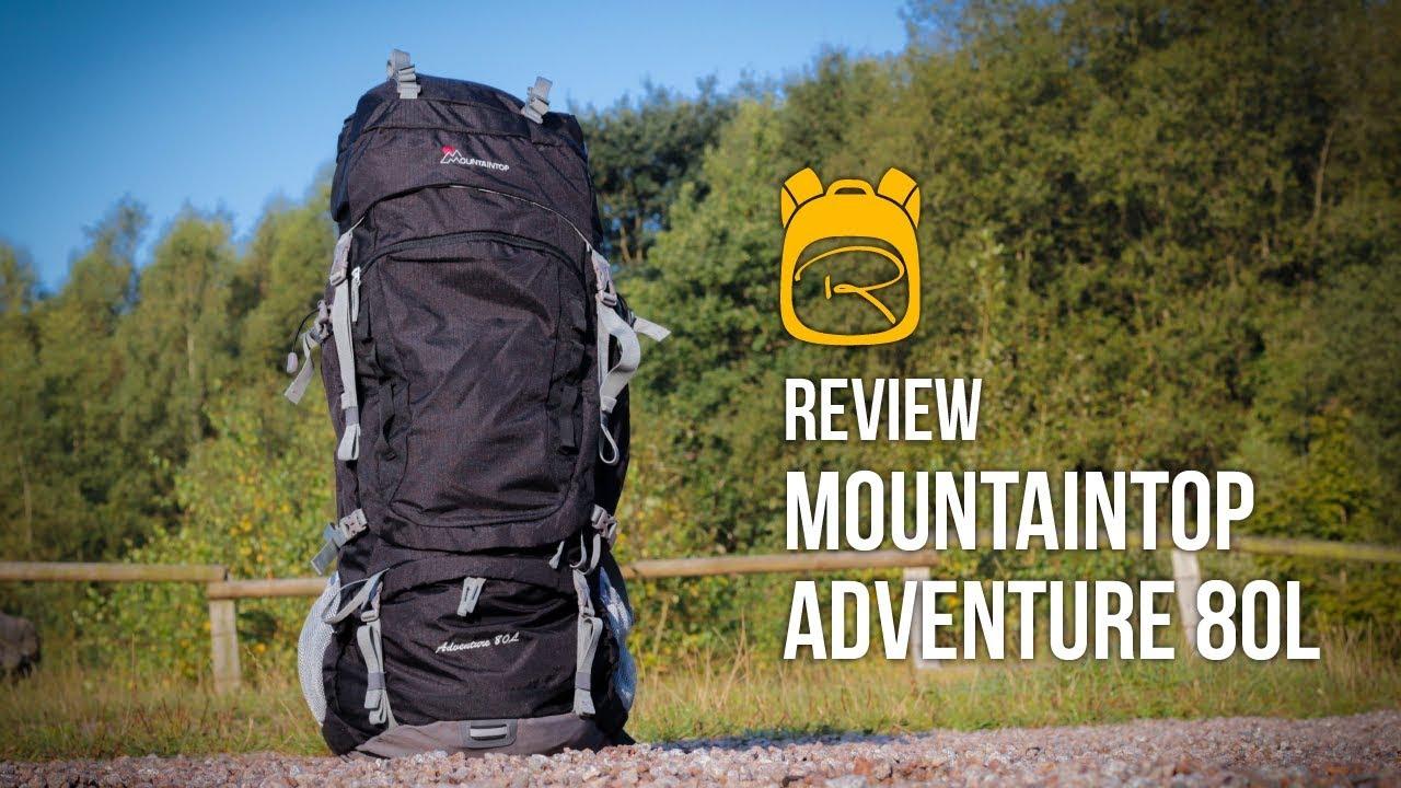 bezahlbarer Preis zu Füßen bei Trennschuhe Mountaintop Adventure 80 Liter - Review auf Deutsch - Rucksack Test