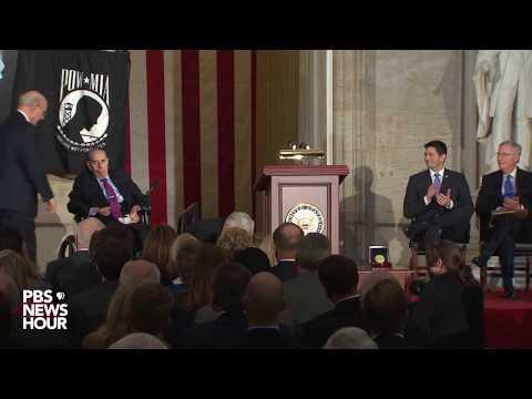 watch-former-sen-bob-dole-receives-congressional-gold-medal