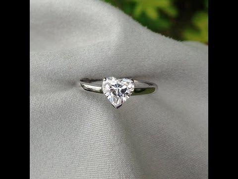 0.91 carat G-VS2 Heart Shape Diamond Solitaire Ring from Bangkok, Thailand