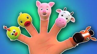 Животные палец Семья | 3D Rhymes | Рифмы для детей