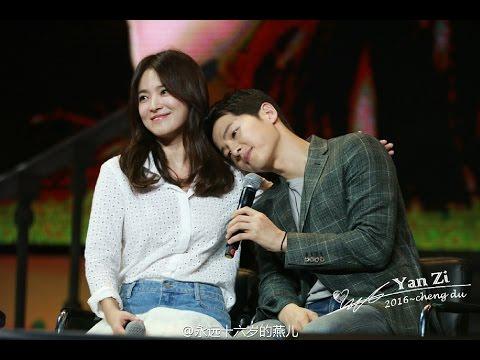 [Fancam]160617 송중기 송혜교 청두팬미팅 Song Hye Kyo Song Joong Ki Chengdu FM Song Song Couple 宋仲基宋慧乔饭拍