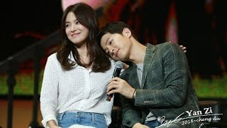 fancam 160617 송중기 송혜교 청두팬미팅 song hye kyo song joong ki chengdu fm song song couple 宋仲基宋慧乔饭拍