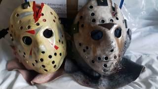 Rubber Johnnies Jason Voorhees part IV & VII hood masks unboxing