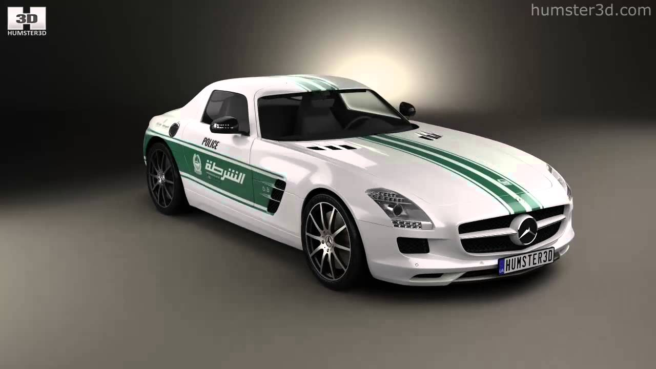 Lovely Mercedes Benz SLS Class (C197) AMG Police Dubai 2013 By 3D Model Store  Humster3D.com   YouTube