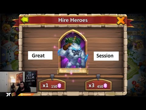 Lucky New F2P Account 35000 Gems For Hero Collector Castle Clash