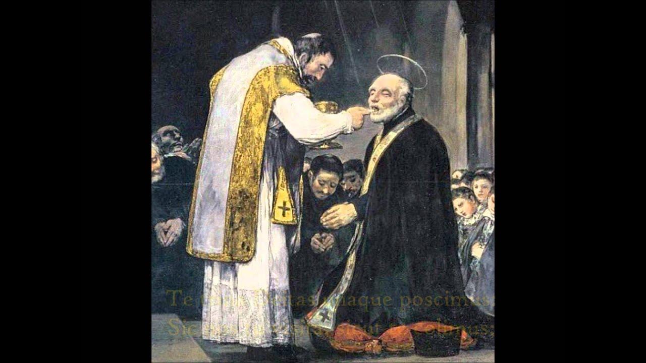 panis angelicus eucharistic gregorian chant youtube