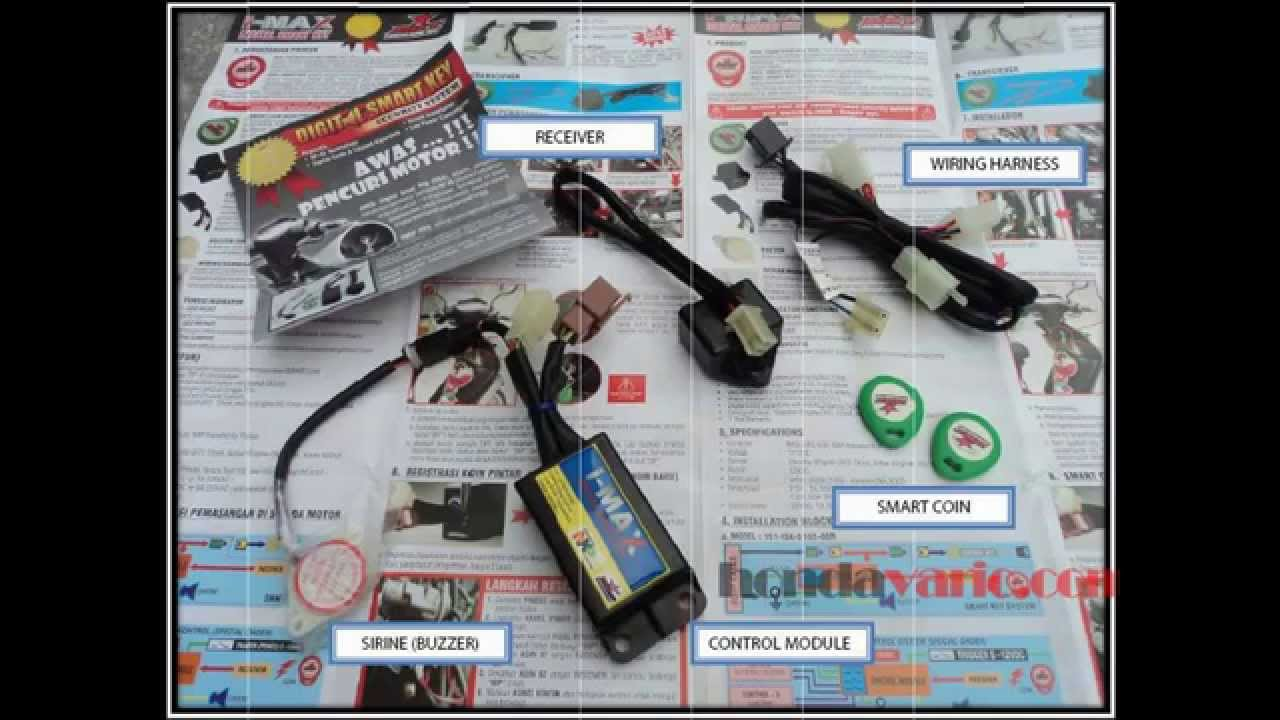 Cara Pasang Alarm Motor BRT Smart Key Di Honda Vario