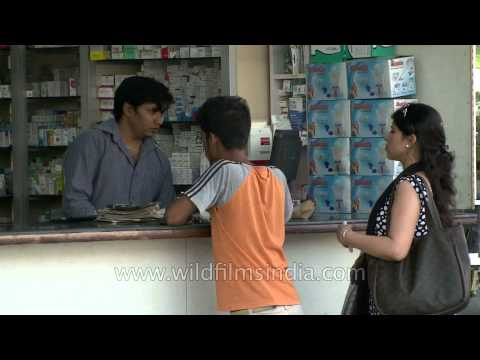 Drug store at Chandni Chowk, Delhi