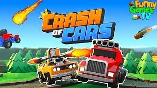 БОЕВЫЕ МАШИНКИ видео для детей про машинки игра как мультик про битву тачек машин Crash of Cars