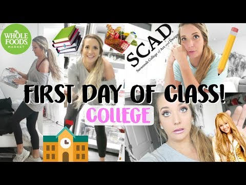FIRST DAY OF CLASS COLLEGE