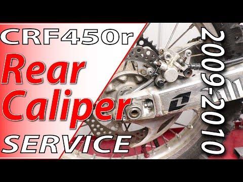 09-10 Honda CRF450r Rear Brake Caliper Service | Fix Your Dirt Bike