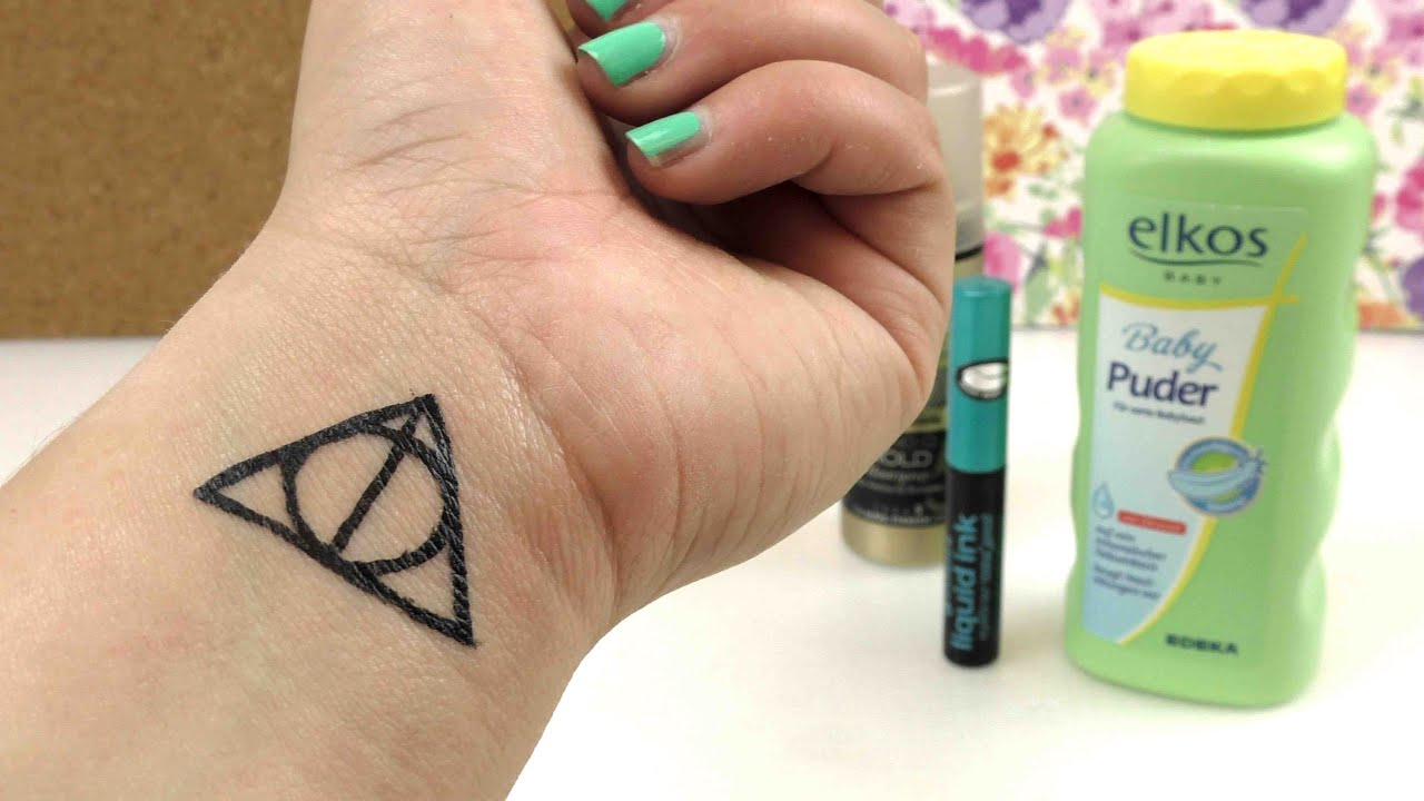 Diy Tattoo Harry Potter Heiligtümer Des Todes Symbol Temporäres