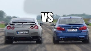 BMW M5 F10 vs Nissan GTR R35 - DRAG RACE
