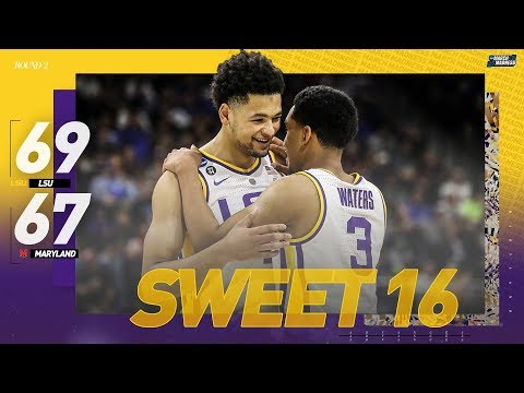lsu-vs-maryland:-second-round-ncaa-tournament-extended-highlights