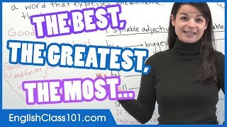 How to use Superlative Adjectives (Best, Greatest, Most…) - Basic English Grammar